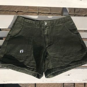 vintage green shorts